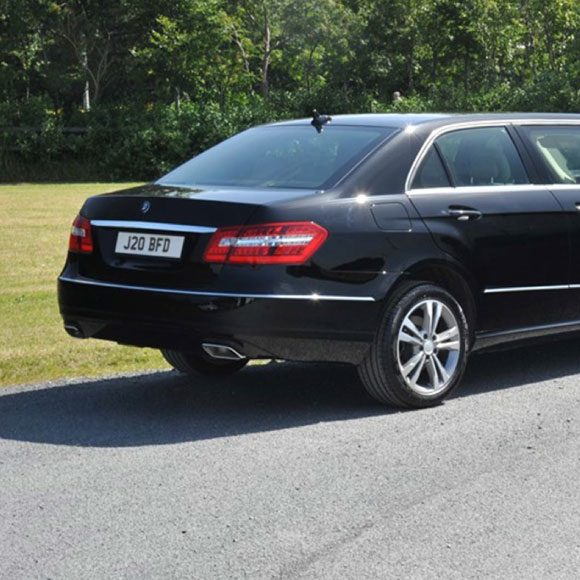 Mercedes E Class limousine for hire in Essex